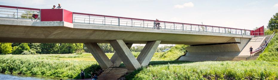 Neue Tourismus-Vechtebrücke in Hoogstede