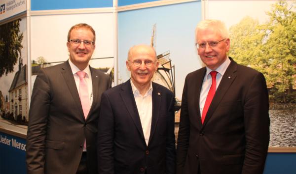 Bankvorstand mit Gastredner Willi Lemke